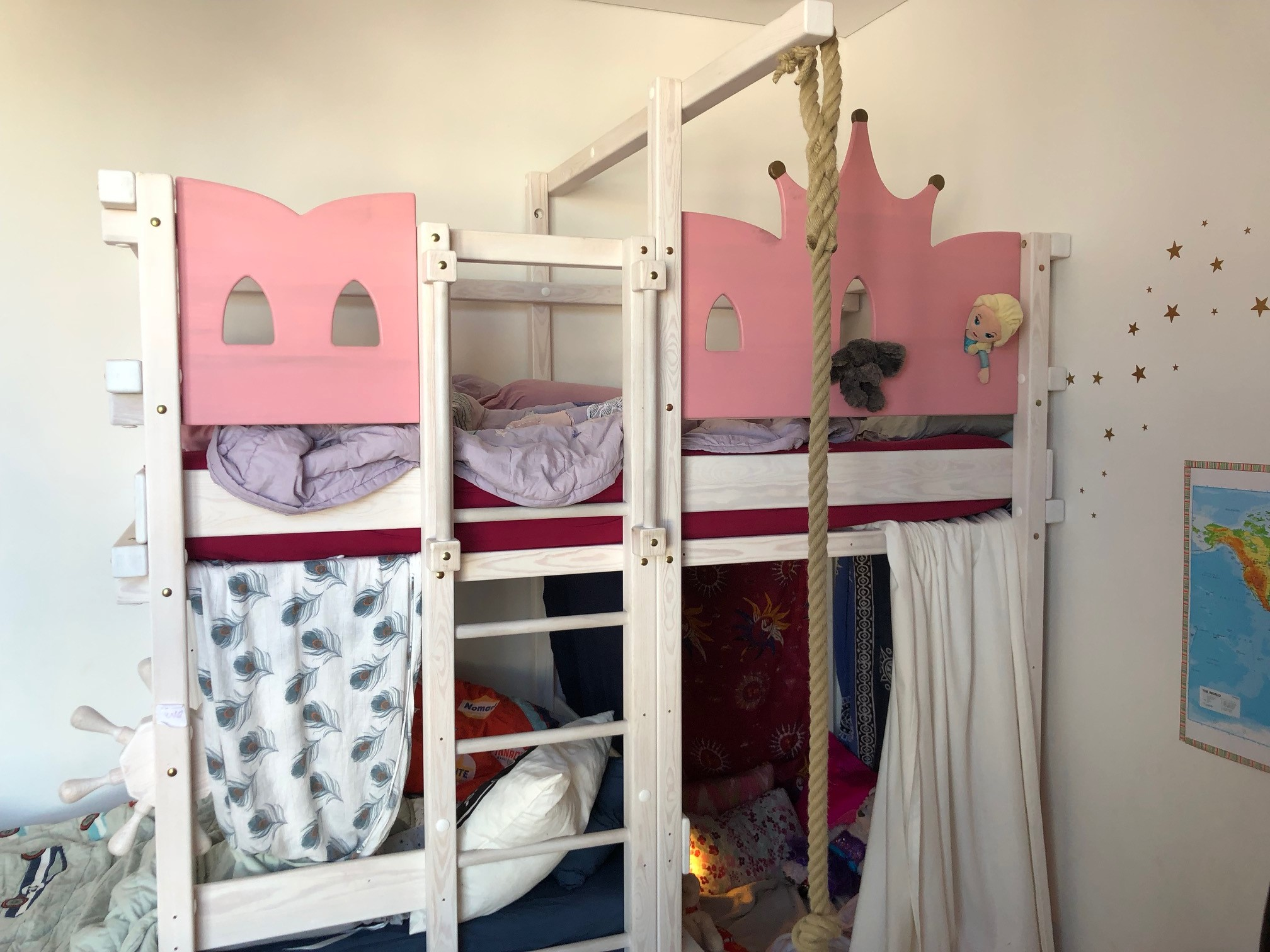 A real photo of AMARILLO bunk bed white by Wendy  (1)