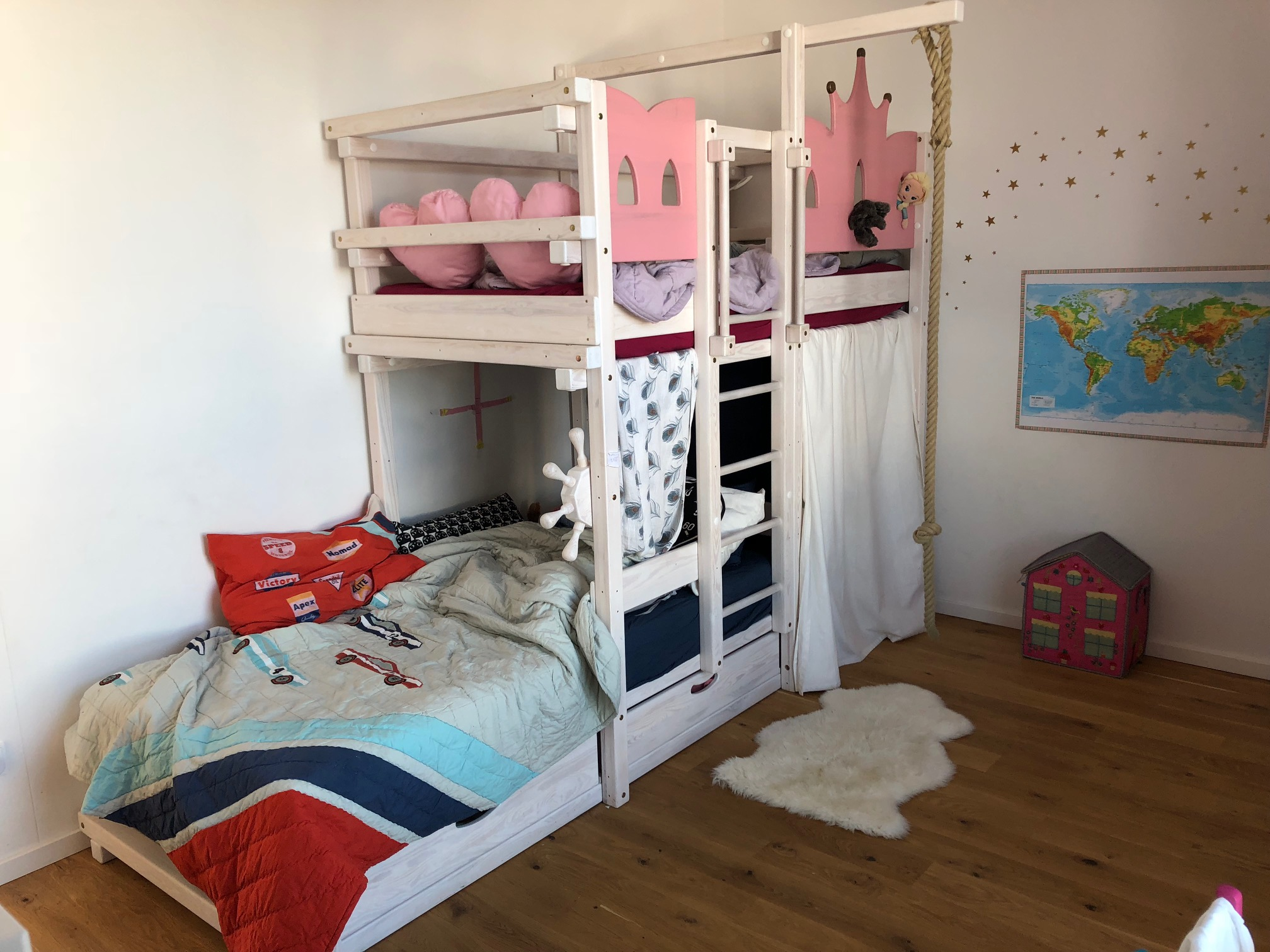 A real photo of AMARILLO bunk bed white by Wendy  (3)