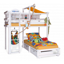 CALGARY bunk bed white
