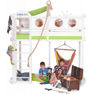 WINNIPEG loft bed white