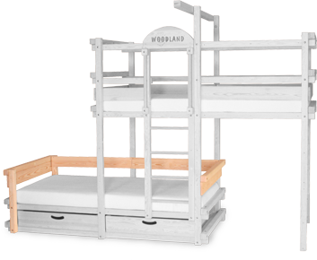Bunk bed AMARILLO with back and armrest