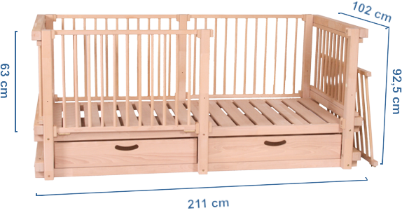 Baby cot ALABAMA dimensions