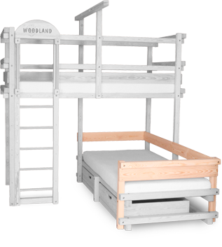 Bunk bed CALGARY with back an armrest