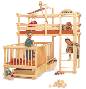 Bunk bed cot bar set