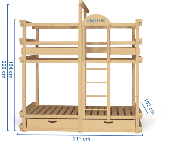 Bunk bed dimensions