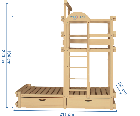 children's bed CAPT'N COOK dimensions