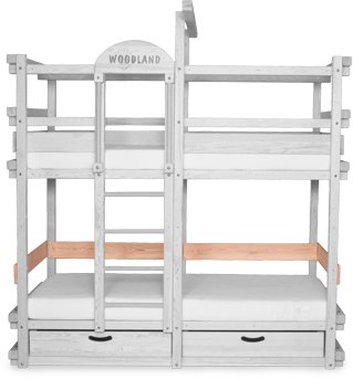 Bunk bed MONTEREY with back and armrest