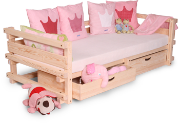 Children's bed MEMPHIS with back and armrest set